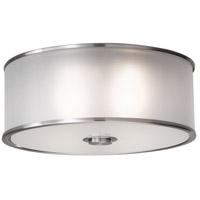 Sea Gull FM291EN3/BS Casual Luxury 2 Light 13 inch Brushed Steel Flush Mount Ceiling Light