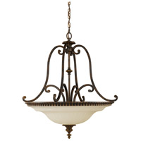 Sea Gull F2222/4WAL Drawing Room 4 Light 27 inch Walnut Pendant Ceiling Light in Standard