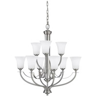 Sea Gull F2253/6+3BS Barrington 9 Light 29 inch Brushed Steel Chandelier Ceiling Light