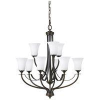 Sea Gull F2253/6+3ORB Barrington 9 Light 29 inch Oil Rubbed Bronze Chandelier Ceiling Light