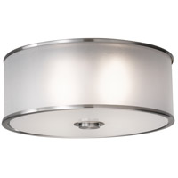 Sea Gull FM291BS Casual Luxury 2 Light 13 inch Brushed Steel Flush Mount Ceiling Light in Silver Organza Fabric, Standard