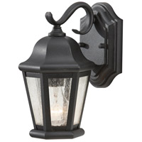 Martinsville 1 Light 11 inch Black Outdoor Wall Sconce in Standard