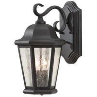 Sea Gull OL5901BK Martinsville 2 Light 15 inch Black Outdoor Wall Sconce