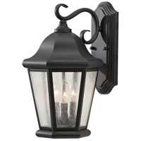 Sea Gull OL5902BK Martinsville 3 Light 17 inch Black Outdoor Wall Sconce