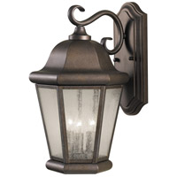 Sea Gull OL5902CB Martinsville 3 Light 17 inch Corinthian Bronze Outdoor Wall Sconce