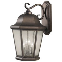 Sea Gull OL5904CB Martinsville 4 Light 20 inch Corinthian Bronze Outdoor Wall Sconce