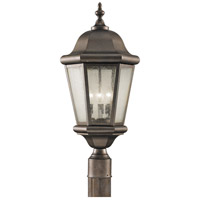 Sea Gull OL5907CB Martinsville 3 Light 22 inch Corinthian Bronze Post Lantern