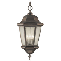 Sea Gull OL5911CB Martinsville 3 Light 10 inch Corinthian Bronze Outdoor Hanging Lantern