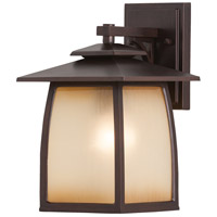 Wright House 1 Light 13 inch Sorrel Brown Outdoor Wall Sconce in Striated Ivory Glass, Standard