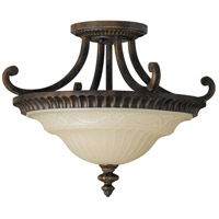 Sea Gull SF239WAL Drawing Room 2 Light 17 inch Walnut Semi Flush Mount Ceiling Light in Standard