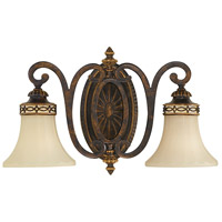 Sea Gull VS11202-WAL Drawing Room 2 Light 18 inch Walnut Vanity Strip Wall Light in 18.25