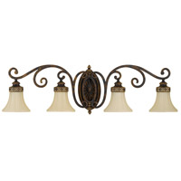 Sea Gull VS11204-WAL Drawing Room 4 Light 38 inch Walnut Vanity Strip Wall Light in 37.75