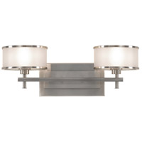 Sea Gull VS13702-BS Casual Luxury 2 Light 18 inch Brushed Steel Vanity Strip Wall Light in Silver Organza Fabric