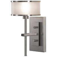 Casual Luxury 1 Light 6 inch Brushed Steel Wall Sconce Wall Light in Silver Organza Fabric