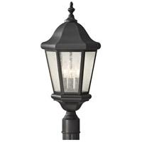 Sea Gull OL5907EN/BK Martinsville 3 Light 22 inch Black Outdoor Post Lantern