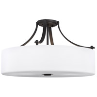 Sea Gull SF254ORB Sunset Drive 22 inch Oil Rubbed Bronze Semi-Flush Mount Ceiling Light