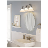Sea Gull 49066BLE-962 Sussex 3 Light 24 inch Brushed Nickel Bath Vanity Wall Light in Satin White Glass alternative photo thumbnail