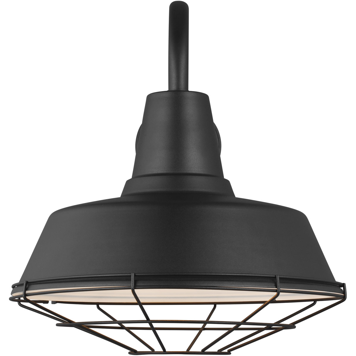 Sea Gull Lighting 98374-12 Barn Light 4 inch Black Outdoor ...