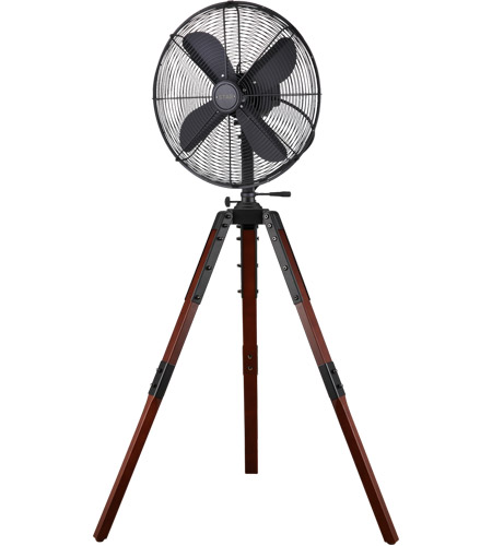 Star Fans 7640 Star Tripod Matte Black 53 inch Pedestal Fan, 16-inch Die-Cast, Oscillating, Adjustable Tilt, 3-Speed photo