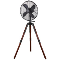 Star Tripod Matte Black 53 inch Pedestal Fan, 16-inch Die-Cast, Oscillating, Adjustable Tilt, 3-Speed
