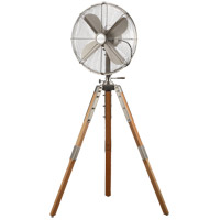 Star Tripod Satin Nickel 53 inch Pedestal Fan, 16-inch Die-Cast, Oscillating, Adjustable Tilt, 3-Speed