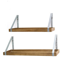 Signature 20 inch Wood and Galvanized Shelves