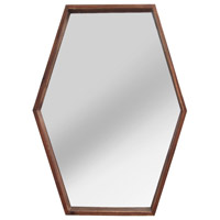 Signature 28 X 20 inch Dark Natural Wood Wall Mirror