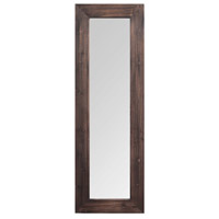 Signature 48 X 16 inch Dark Natural Wood Wall Mirror