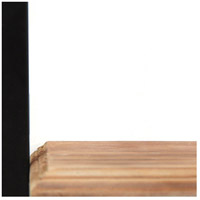 Stratton Home Decor S16070 Signature 6 inch Natural Wood and Black Mini Shelves alternative photo thumbnail