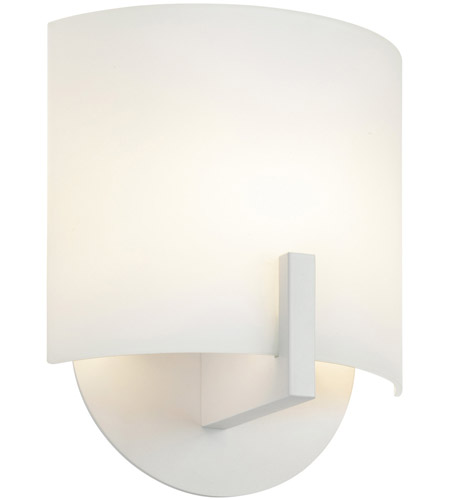 Sonneman Scudo 1 Light Sconce in Satin White 1728.03 photo