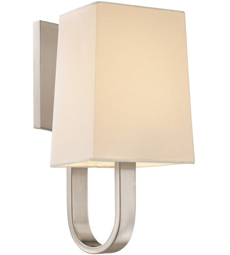 Sonneman 1821.13 Cappio 1 Light 6 inch Satin Nickel Sconce Wall Light in Candelabra photo