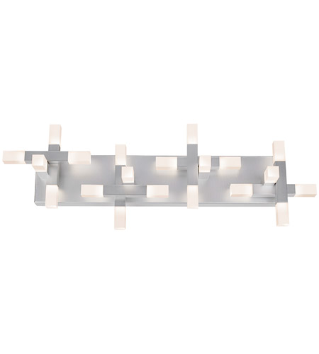 Sonneman Connetix 20 Light Bath Light in Bright Satin Aluminum 2114.16 photo