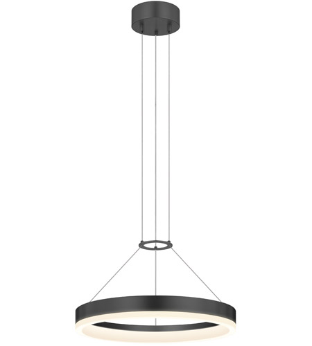 Sonneman Corona Pendant in Satin Black 2313.25 photo