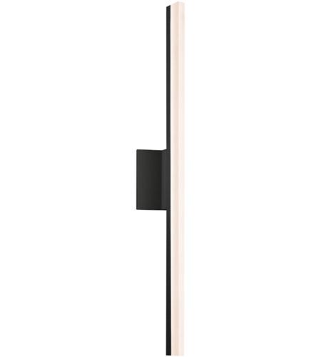 Sonneman 2342 25 dim stiletto led 5 inch satin black bath light wall light photo