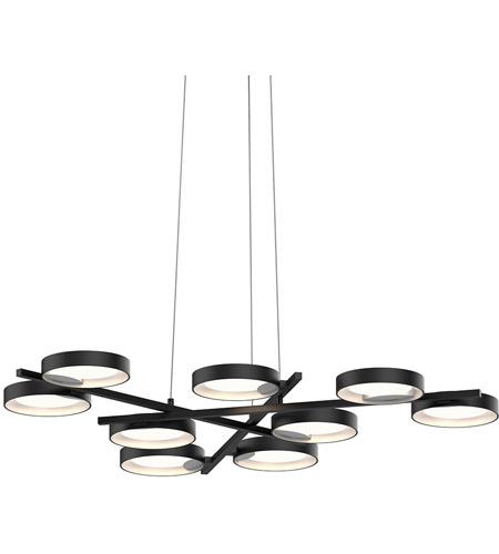 Sonneman 2656 25w Light Guide Ring Led 48 Inch Satin Black Pendant Ceiling In White