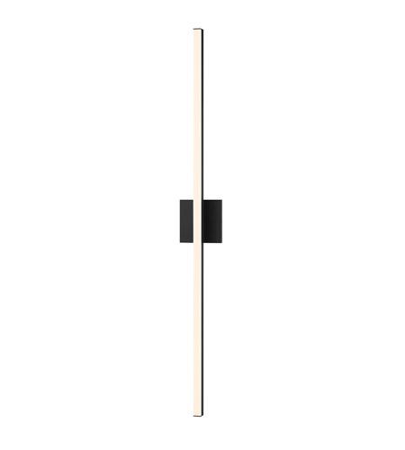 Stix LED 1 inch Satin Black Vanity Wall Light