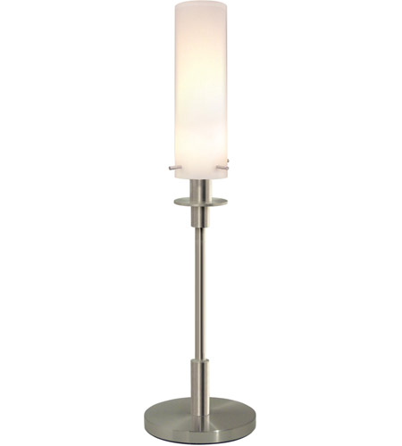 Sonneman Lighting Candle 1 Light Table Lamp in Satin Nickel 3032.13 photo