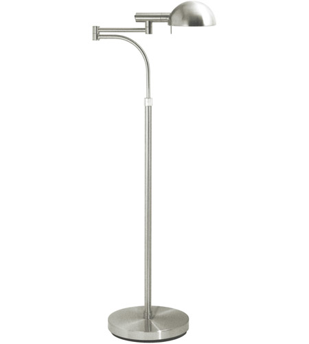 Sonneman E-Dome 1 Light Floor Lamp in Satin Nickel 3041.13 photo
