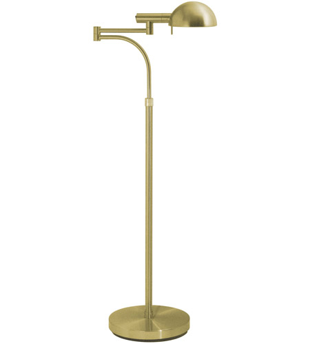 Sonneman E-Dome 1 Light Floor Lamp in Satin Brass 3041.38 photo