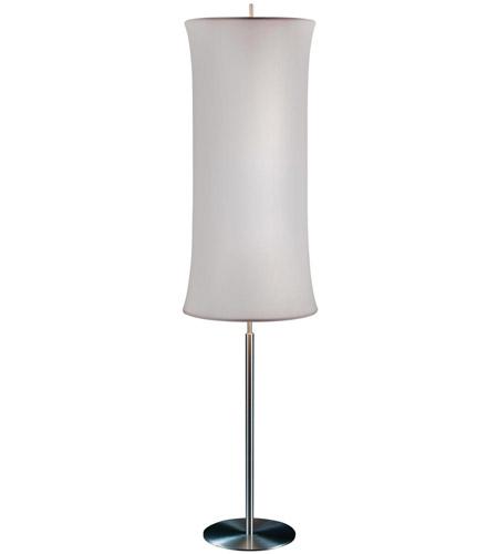 Sonneman lightweights 2 light floor lamp in satin aluminum 3134 10s photo