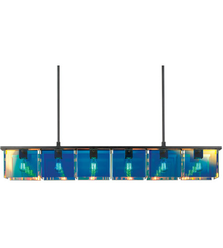 Sonneman Dichroix 6 Light Pendant in Black Brass 3176.51 photo