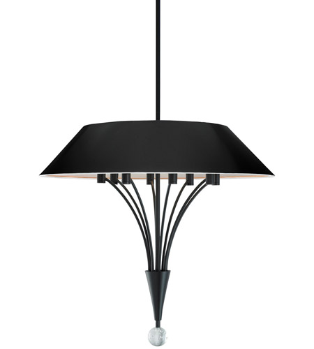 Sonneman 3195.25 Fontana 8 Light 24 inch Satin Black Pendant Ceiling Light photo