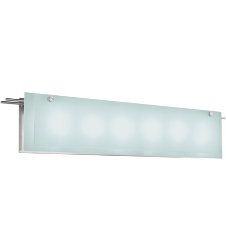 Sonneman Suspended 6 Light Bath Light in Satin Nickel 3208.13 photo