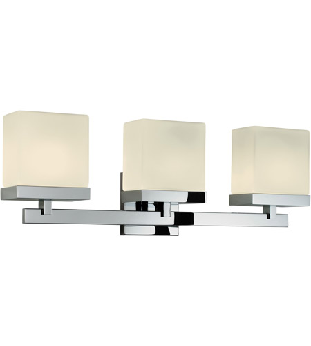 Sonneman Cubist 3 Light Bath Light in Polished Chrome 3233.01 photo