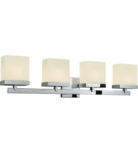 Sonneman 3234.01 Cubist 4 Light 33 inch Polished Chrome Bath Light Wall Light in 32.5 in. photo