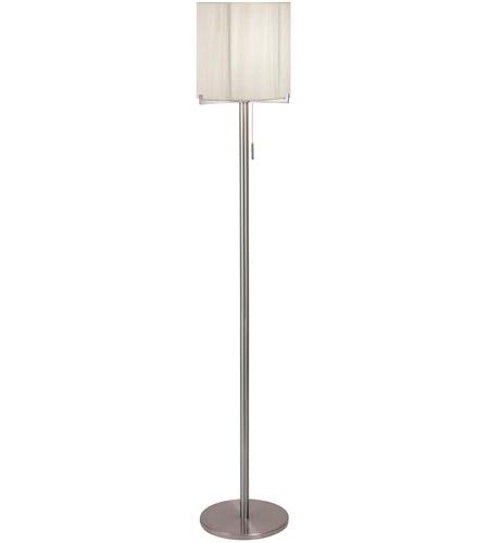 Sonneman Boxus 1 Light Floor Lamp in Satin Nickel 3348.13 photo