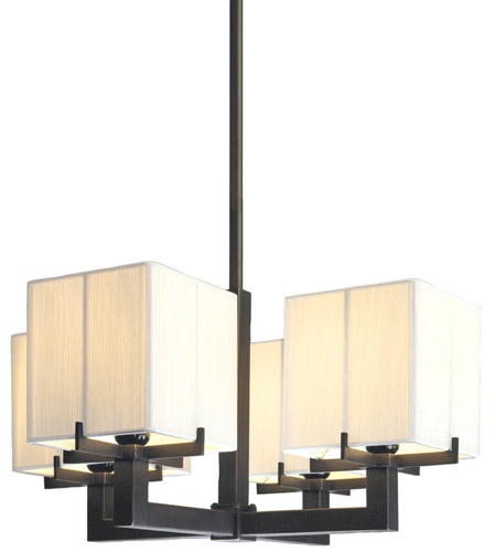 Sonneman Boxus 4 Light Pendant in Black Brass 3356.51 photo