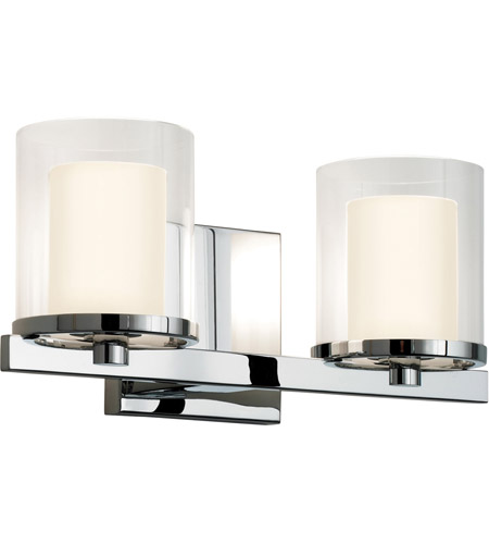 Sonneman Votivo 2 Light Sconce in Polished Chrome 3412.01 photo