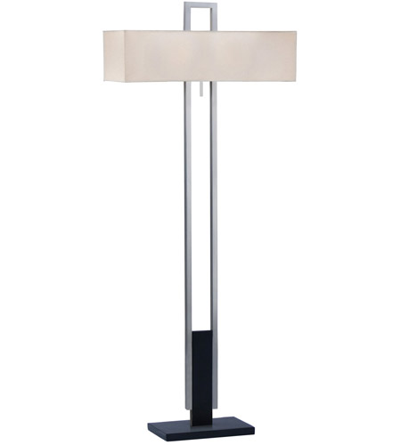 Sonneman Lighting Berlin 2 Light Floor Lamp in Satin Nickel w/Black 3506.55F photo