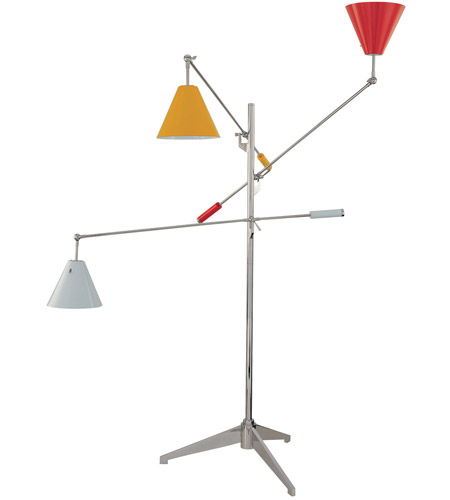 Sonneman Treluci 3 Light Floor Lamp in Polished Chrome 3636.01M photo